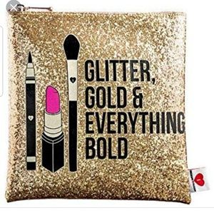 Glitter, Gold & Everything Bold Make Up Bag Pouch